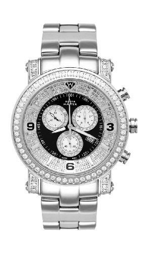 new aqua master men s power one row diamond watch diamond aqua master men s power one row diamond watch diamond dial 3 60 ctw men s jewellery nice watches and aqua