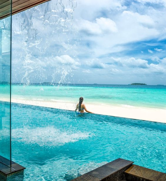 Your waterfall is waiting at @Four Seasons Resorts Maldives.