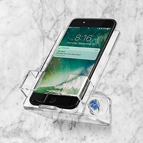 Bath Shower Car Cell Phone Case Stand Holder Caddy Tray Mount With Two Powerful Strong Suction Cups Perfect For All Pho Shower Caddy Cell Phone Holder Phone