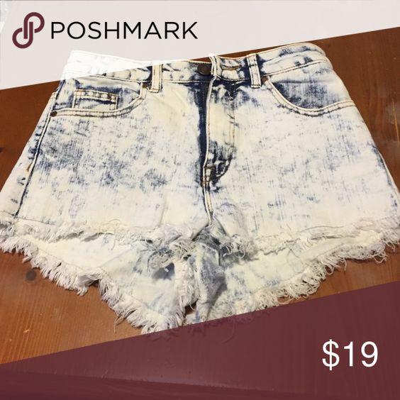 Shorts Acid wash looking denim high waisted shorts Cali Shorts Jean Shorts