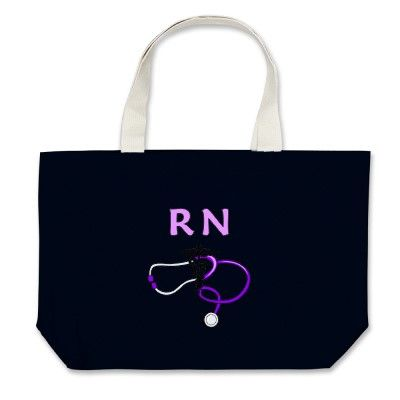 RN Stethoscope Tote Bags