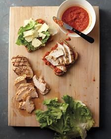 Smoky Bell-Pepper Pesto on Grilled Chicken Sandwiches - Whole Living Eat Well