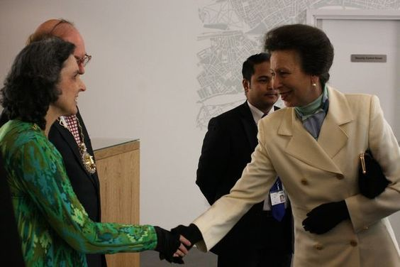 Greetings: HRH The Princess Royal meets the mayor and mayoress of Greenwich