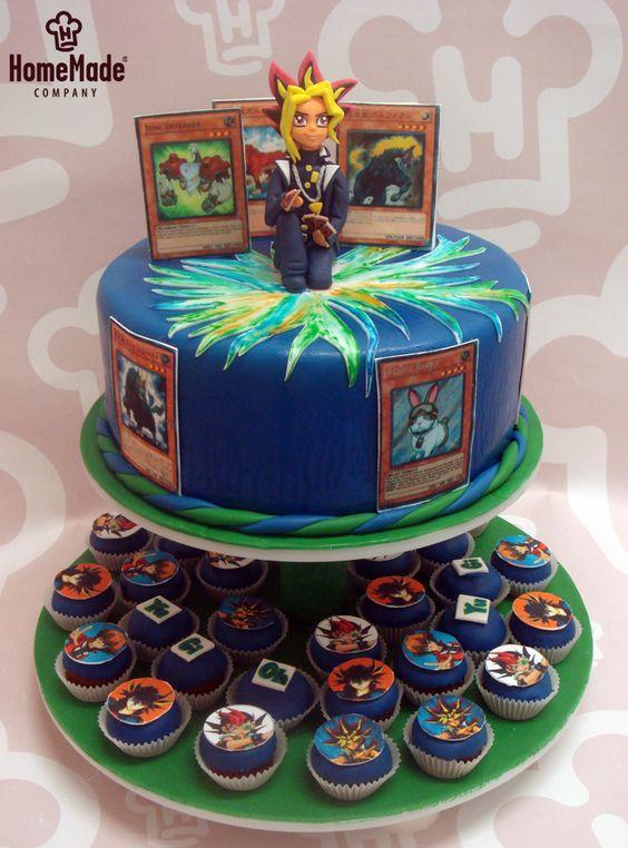 Resultado de imagem para bolo  yu gi oh