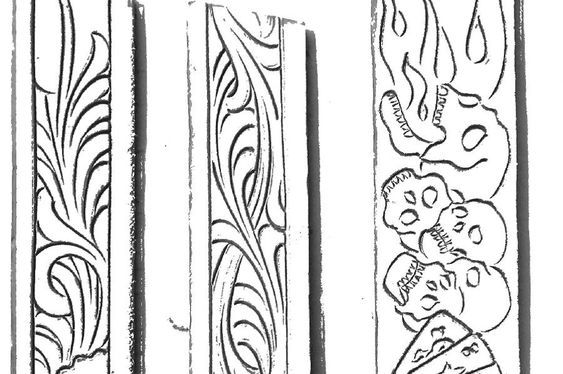 Drawings patterns for carving in leather pesquisa google
