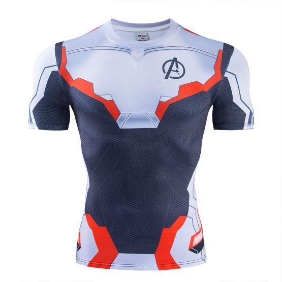 Avengers 4 Endgame Quantum War Men 3D Printed Compression T shirts Shirt Cosplay