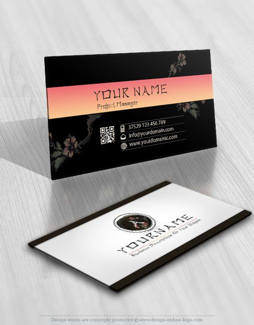 2666 Chinese Flower Japanese Logo Business Card Design Fashionablelogo Fashionlogo Fashionlogos Nailarti Online Logo Design Flower Logo Free Business Cards