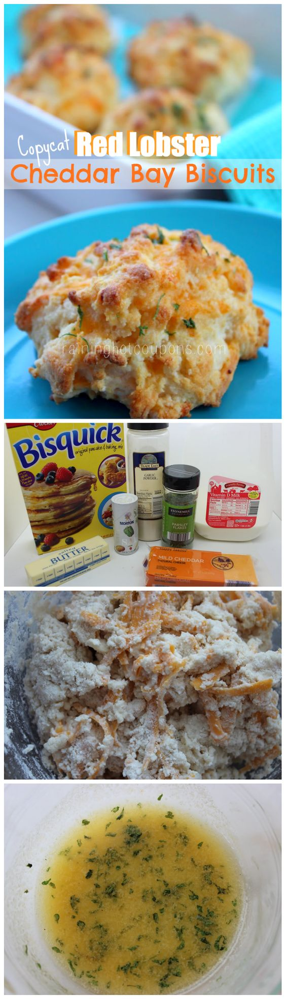 red lobster biscuits collage.png Copycat Red Lobster Cheddar Bay Biscuits