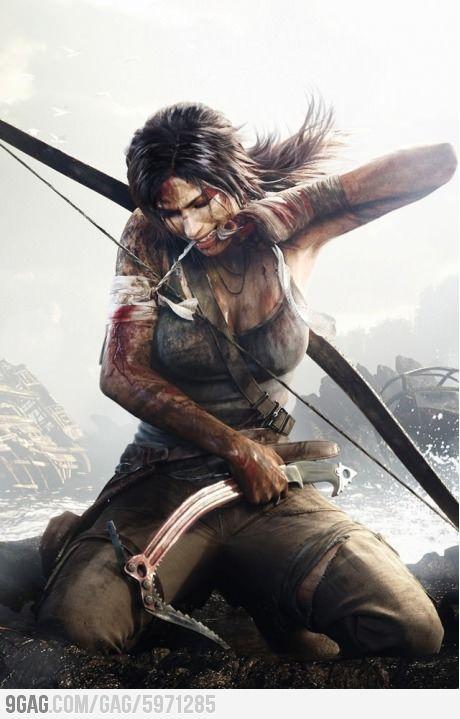 Awesome Tomb Raider Lara Croft Drawing