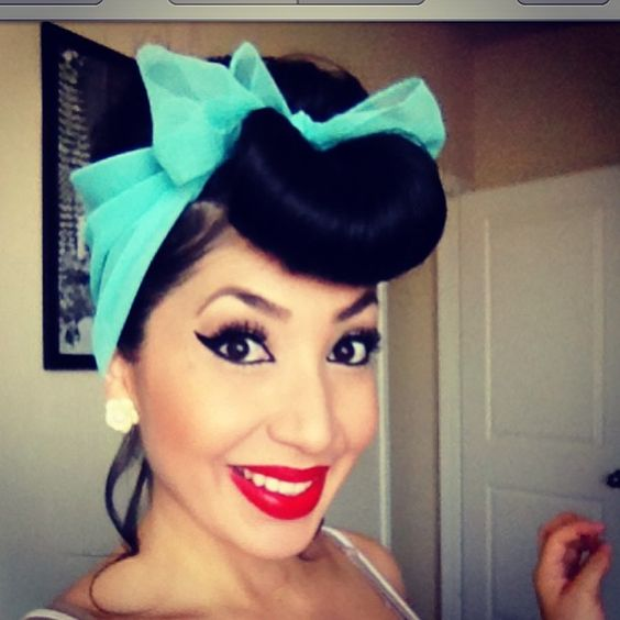Rockabilly Hair And Makeup Pin Up Girl  U0026#39;50s Style Vintage Makeup Retro Hair | Pin Up ...