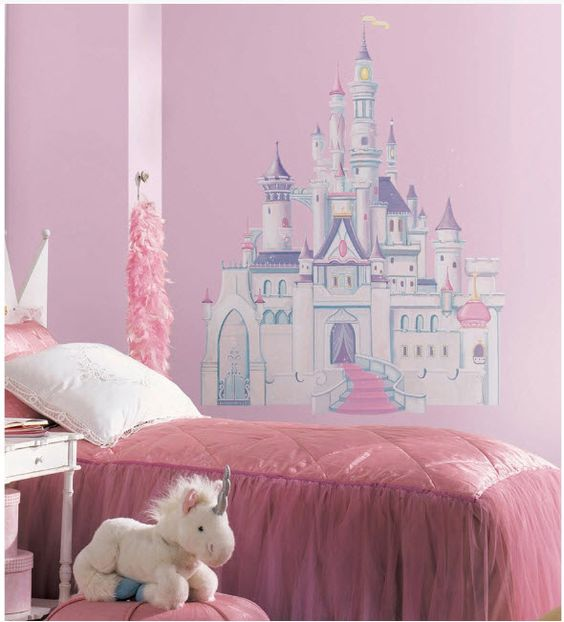 princess room decorating decals | about Disney Princess Castle Big Wall Mural Stickers Room Decor ...