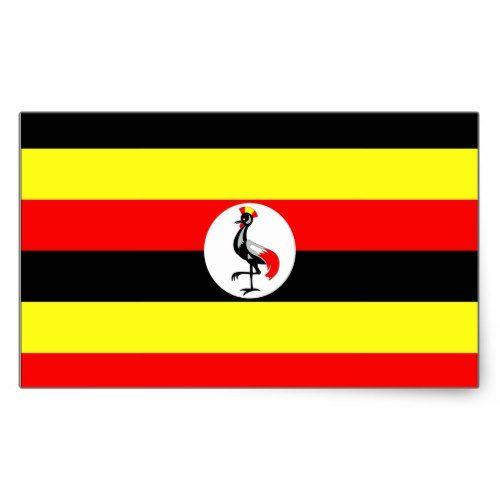 Uganda Flag Rectangular Sticker Zazzle Com Uganda Flag Uganda