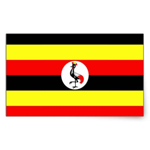 Uganda Flag Rectangular Sticker Zazzle Com Uganda Flag Uganda