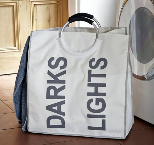 Our sturdy new laundry bag has been designed around the theme of our best selling triple laundry sorter with internal divider to separate lights from darks to make loading the washing machine that little bit simpler.  Alongside the roomy sub-divided sections, this study laundry bag has padded handles making carrying that little bit easier when full.