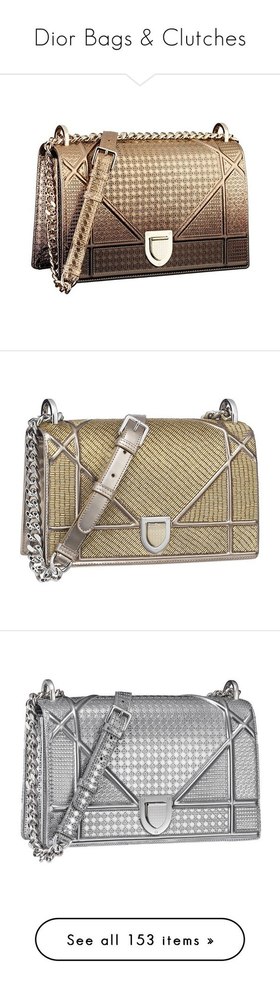 """Dior Bags & Clutches"" by sakuragirl ❤ liked on Polyvore featuring bags, dior, bolsas, clutches, sac, christian dior, handbags, esprit handbags, borse and wallets"