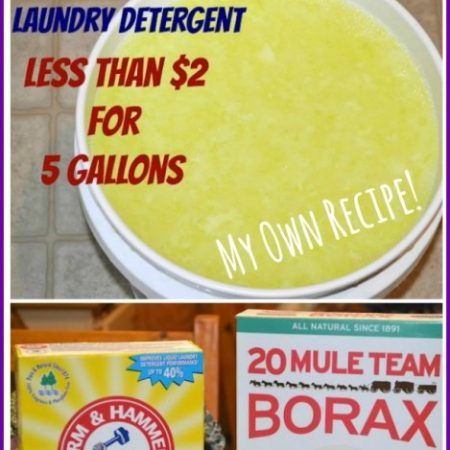 Homemade Liquid Laundry Detergent Less Than 2 For 5 Gallons