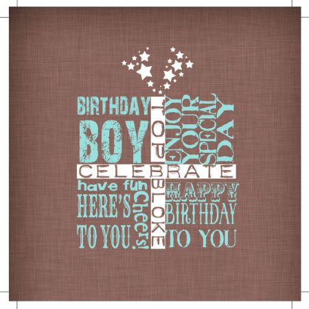 Jeannine Rundle - AD3220B GIFT BIRTHDAY BOY WORDS