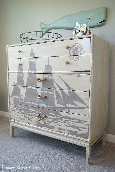 Hometalk | Ship Silhouette Chest Of Drawers this is a fave @hometalk !