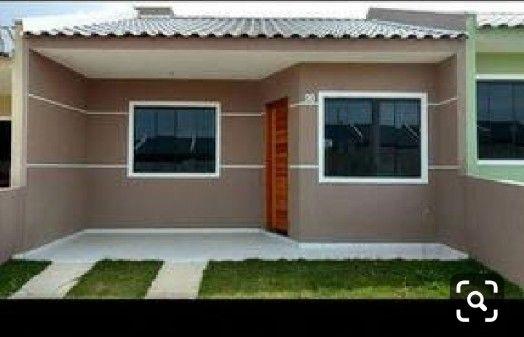 Pintura externa de casas marrom