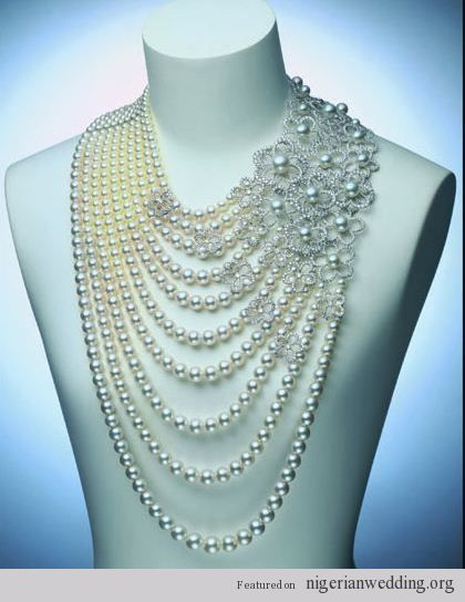 Absolutely Stunning & Extravagant Pearl Jewelry For Traditional Engagement Ceremony... | Nigerian Wedding