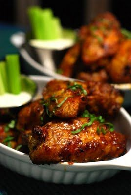 Fire Roasted Sirracha Chicken Wings...