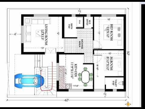 30x40 House Plan Youtube 30x40 House Plans Indian House Plans