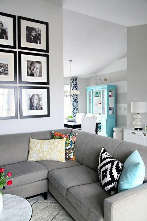 Love This Color Scheme For The Living Room Navy Tiffany Blue Pop Of Yellow Gray Walls Burgundy Living Room Living Room Turquoise White Living Room Decor #tiffany #blue #living #room