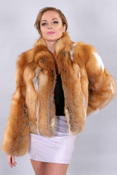 Red fox fur jacket. Red fox is a great choice for a short fur ...