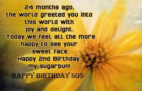 Happy 2nd Birthday To My Son Quotes Birthday Birthdayfunnymeme Birthday Wishes For Myself Happy Birthday Quotes Birthday Wishes For Son