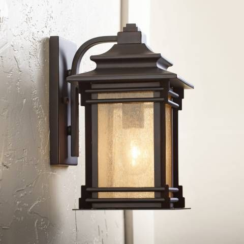 Add Warmth To A Porch Or Patio With The Soft Glow Of This Mission Arts And Crafts Inspired Exterior Light Fixtures Exterior Wall Light Outdoor Light Fixtures