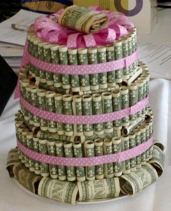 Money Cake.. Literally, the best gift ever, especially for older teens