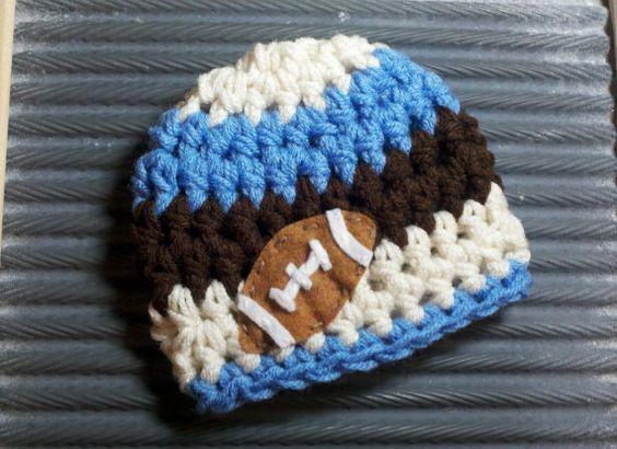 READY Baby boy football hat hats boys by BellaMariesboutique