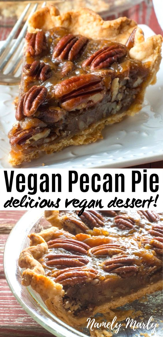 Best Vegan Pecan Pie Recipe Image from Namely Marly