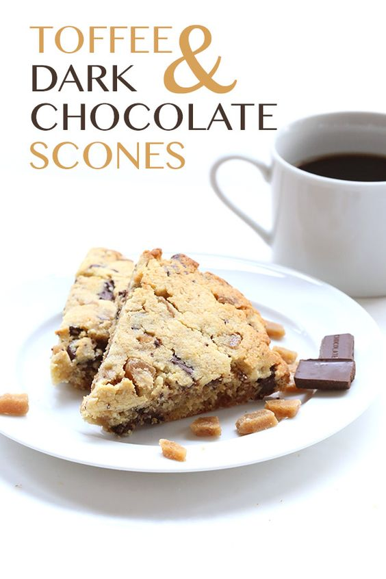 carb grain-free scones are packed with sugar-free toffee bits and dark ...