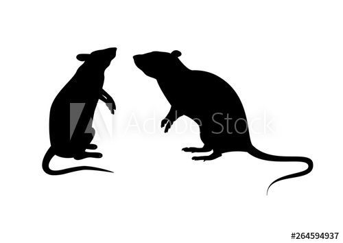 Two Rats Silhouette Vector Standing Rat Icon Vector Rats Isolated On A White Background Mouse Clip Art In 2021 Rat Silhouette Silhouette Vector Animal Clipart