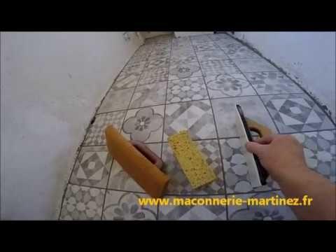 Pose De Carrelage A La Colle Sur Ancien Carrelage Www Maconnerie Martinez Fr Youtube