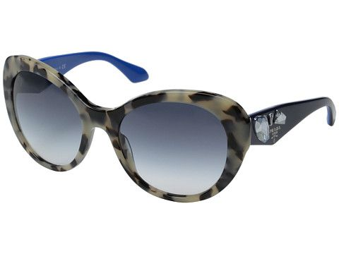 Prada 0PR 26QS White Havana/Clear Gradient Blue