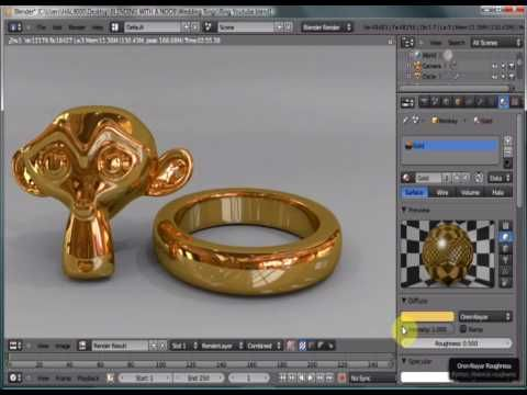 Blender 2.53 Realistic Gold Ring Tutorial