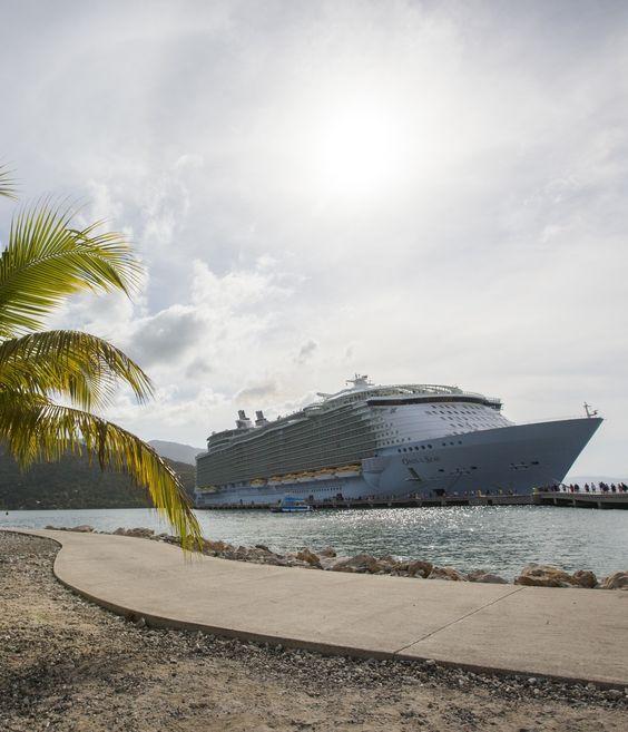 Oasis of the Seas docks for the day in Labadee. #caribbean: Royal Caribbean Cruise, Cruises Cruisewear, Caribbean Avoya