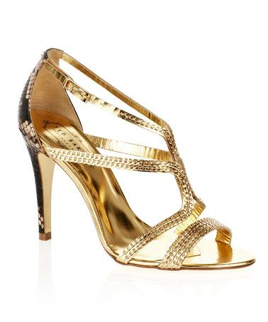 Take a look at this Gold Snake Tilbey Sandal by Ted Baker on #zulily today!