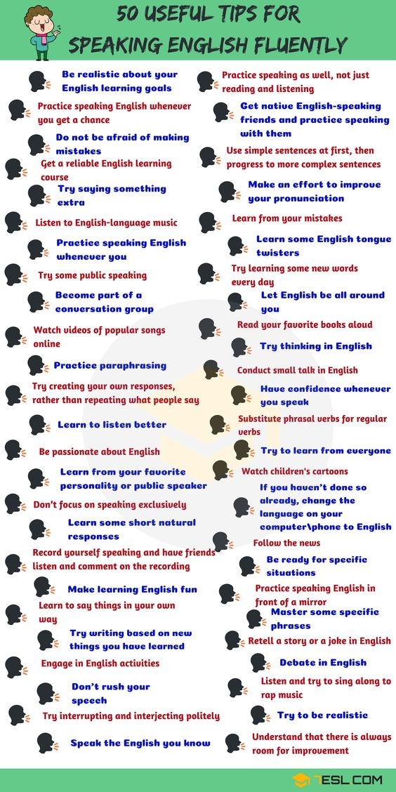 50 Simple Tips for Speaking English Fluently - 7 E S L