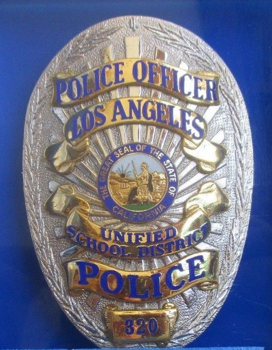 Us State Of California Los Angeles Unified School District Police Department Badge In 2020 Police Badge Police Badge
