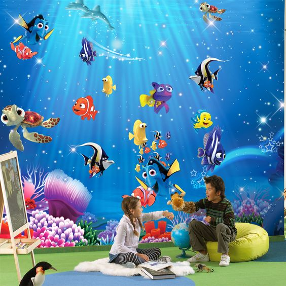 Find more wallpapers information about wholesale 3d wall for Cartoon mural wallpaper