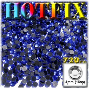 720-pc glass DMC Hot-Fix Rhinestones 4mm/16ss Royal Blue