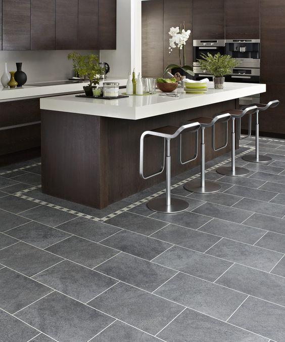 Kitchen Floor Tiles Design Ideas: Design Ideas, : Marvellous Kitchen Design Ideas With Dark