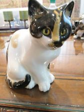"RARE MIKE HINTON WINSTANLEY ENGLAND #17 LARGE CAT FIGURINE 8"" T X 7"" W X 5"" D"