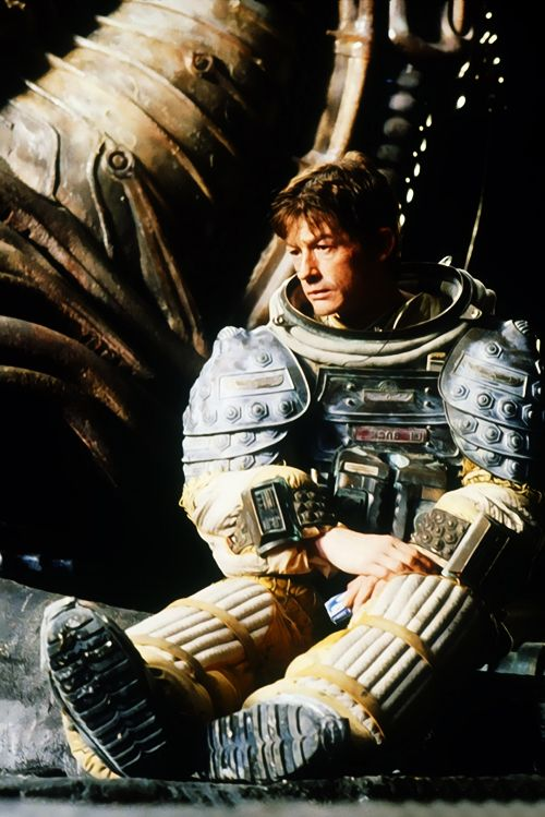 John Hurt taking a moment off-camera, to wonder what the hell he's let himself in for on the set of Alien...