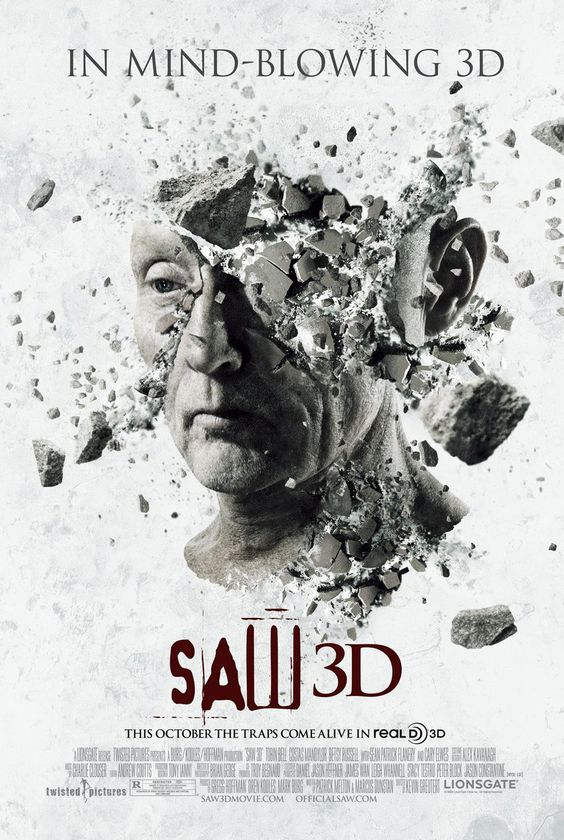 Saw 3D watched September 26th.