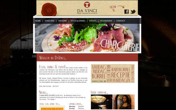 Web Design and photography for an industrial restaurant concept http://davinciterneuzen.com