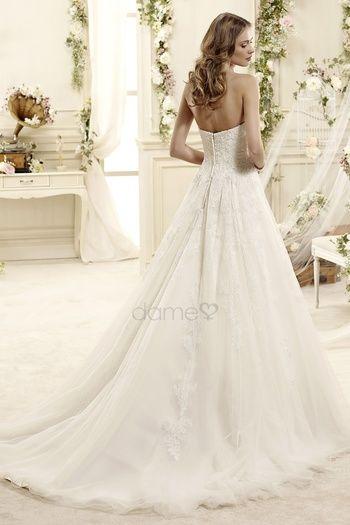 - Keine Taille A-Linie Spitze Ärmellos Brautkleid